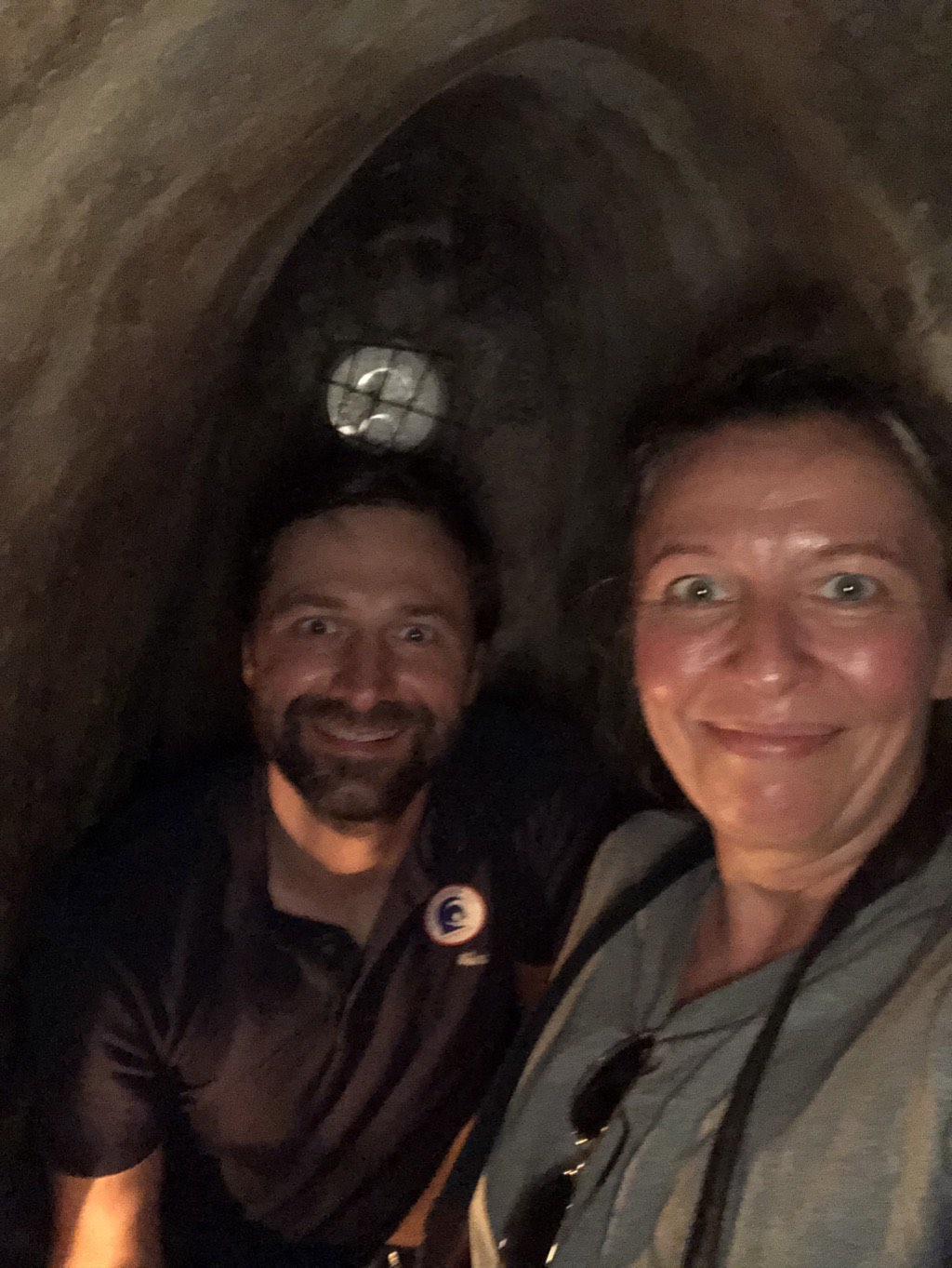 Austen & Diana in tunnel